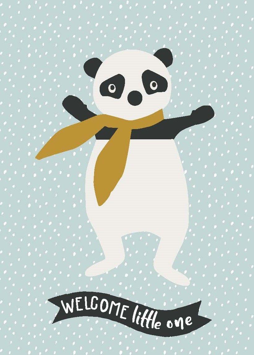 Geburtskarte Panda