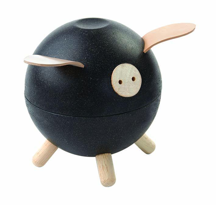 Sparschwein schwarz