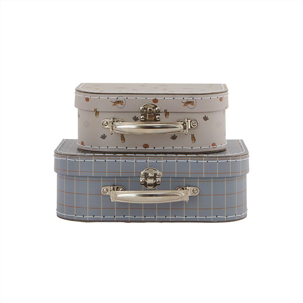 Mini-Suitcase Tiger & Grid